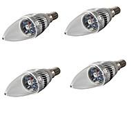 E14 LED-lysestakepærer C35 1 leds Høyeffekts-LED Dekorativ RGB 200-240lm RGBK AC 85-265 AC 220-240 AC 100-240 AC 110-130V