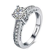 Pentru femei Diamant simulat Band Ring Inel de declarație Plastic Zirconiu Zirconiu Cubic Inimă Iubire femei Personalizat Modă Inele la Modă Bijuterii Alb Pentru Nuntă Petrecere Aniversare Logodn