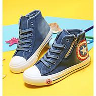 お買い得  男の子用靴-男女兼用 靴 キャンバス 春 オックスフォードシューズ ウォーキング 編み上げ のために ダークブルー / ライトブルー