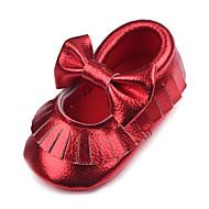 赤ちゃん ユニセックス フラット レザーレット 春 秋 結婚式 スポーツ カジュアル パーティー フラットヒール ホワイト シルバー パープル レッド ゴールデン フラット