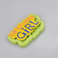 Bolos de aniversário da menina Imagem Molde de silicone Ferramentas de decoração Molde de chocolate Ramdon Color