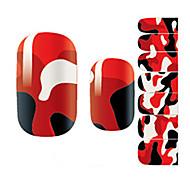 14Pcs/Sheet Nail Art Sticker Autocolantes de Unhas 3D Desenho Animado / Adorável maquiagem Cosméticos Prego Design Arte