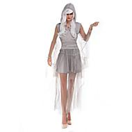 vještica Cosplay Nošnje Kostim za party Žene Halloween Festival / Praznik Halloween kostime Sive boje Jednobojni