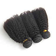 Az emberi haj sző Brazil haj Kinky Curly 12 hónap 3 darab haj sző