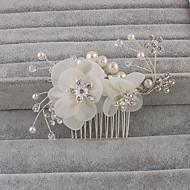economico Corone, diademi e accessori per capelli sposa-Strass Pettini per capelli 1 Matrimonio Occasioni speciali Ufficio e carriera Copricapo