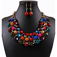 Mulheres Conjunto de jóias Importante, senhoras, Vintage, Europeu, Fashion Incluir Colar / Brincos Roxo / Arco-Íris Para Casamento Festa Diário Casual Trabalho / Colares