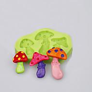 billige Bakeredskap-sopp form for moldant kake cookie verktøy dekorasjon bakervarer silikon mold ramdon farge