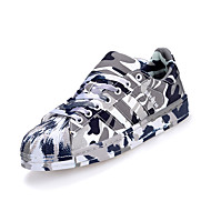 Unisex Sneakers Spring / Fall Comfort PU Casual Flat Heel  Green / Black and White Sneaker