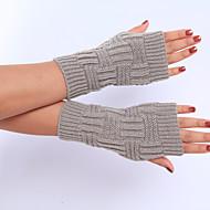 قفازات نسائي نصف اصبع طول المعصم لون سادة حفلة / عمل / جميل / الخريف / الشتاء