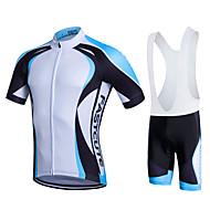 Fastcute Herre Dame Kortærmet Cykeltrøje og shorts med seler Cykel Shorts med seler Tights Med Seler Trøje Tøjsæt, 3D Måtte,