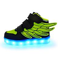 baratos Sapatos de Menino-Para Meninos Sapatos Sintético Primavera Tênis com LED Tênis Gliter com Brilho / Colchete / LED para Verde / Rosa claro / Azul Real