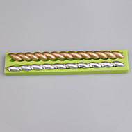 2 boşluk şerit şekli fondan pasta dekorasyon araçları için silikon kalıp rengi rasgele