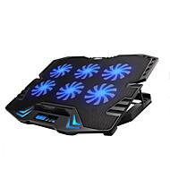 controle inteligente bloco de resfriamento laptop tela de LED ajustável com 6 fãs