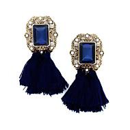 Dame Dråbeøreringe Krystal Boheme Stil Europæisk Mode Vintage Rhinsten Guldbelagt Stof Legering Geometrisk form Smykker Til Bryllup Fest