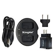 kingma® מטען כפול + מטען USB לקיר אלפא הסוללה NP-fw50 SONY 7 A7 7S a6000 SLT-A33 סוללה NEX-n NEX-3N