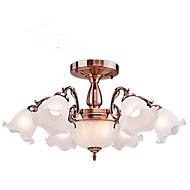 billige Bestelgere-8-Light Candle-stil Takplafond Opplys - Mini Stil, 110-120V / 220-240V, Varm Hvit / Hvit, Pære Inkludert / 20-30㎡ / E26 / E27
