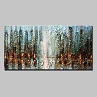 Maalattu Abstrakti Vaakasuora,Moderni 1 paneeli Kanvas Hang-Painted öljymaalaus For Kodinsisustus