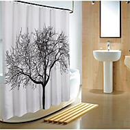 cheap Shower Curtains-Shower Curtains Modern Polyester Floral/Botanical Machine Made