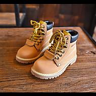 billige High-tops til børn-Støvler-LæderDrenge-Brun Gul-Udendørs-Flad hæl