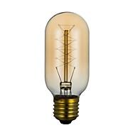 baratos Incandescente-BriLight 1pç 40W E27 E26/E27 T45 Branco Quente 2300 K Incandescente Vintage Edison Light Bulb AC 220V AC 110-130V AC 220-240V V