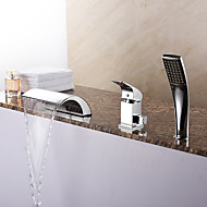 cheap Discount Faucets-Bathtub Faucet - Contemporary Chrome Roman Tub Ceramic Valve