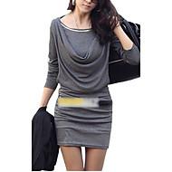 Mujer Vaina Vestido - Frunce, Un Color Mini Sobre la rodilla / Delgado