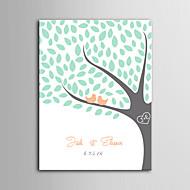 E-home® kişiselleştirilmiş imza tuval görünmez çerçeve baskı - ağaç üzerinde kuş
