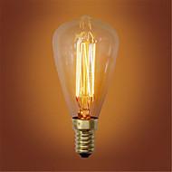 baratos Incandescente-1pç 40W E14 ST48 Branco Quente 2300k Retro / Regulável / Decorativa Incandescente Vintage Edison Light Bulb 220-240V