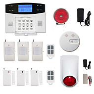 433MHz  LCD Wirless GSM/PSTN Home House Office Alarm System