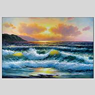 billiga Landskapsmålningar-Hang målad oljemålning HANDMÅLAD - Landskap Klassisk Europeisk Stil Moderna Duk