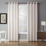 To paneler Vindue Behandling Moderne , Solid Soveværelse Polyester Materiale Mørklægningsgardin forhæng Hjem Dekoration For Vindue
