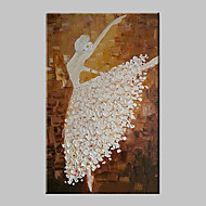 cheap Oil Paintings-Hand-Painted People Vertical, Modern Traditional Canvas Oil Painting Home Decoration One Panel