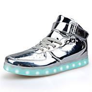 tanie Obuwie męskie-Męskie Komfortowe buty Skóra patentowa Wiosna / Jesień Buty płaskie Niepoślizgowy / a Srebrny / Czerwony / Złota