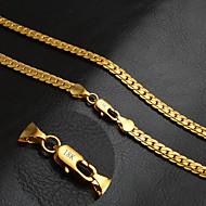 ieftine -Bărbați Pentru femei Circle Shape Personalizat Clasic Modă Lănțișoare Auriu 18K de aur Lănțișoare . Nuntă Petrecere Zilnic Casual Sport