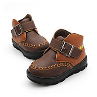 Para Meninos sapatos Couro Ecológico Primavera Outono Botas Para Casual Preto Marron