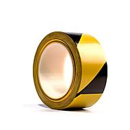 twee 48mm * 16m zwart en geel gestreepte vloer tapes per pack
