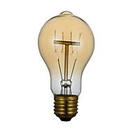 billige Glødelampe-1pc 40 W E26 / E27 A60(A19) Varm hvit 2300 k Kontor / Bedrift / Mulighet for demping / Dekorativ Glødende Vintage Edison lyspære 220-240 V