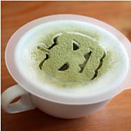 8pcs dia das bruxas plástico guirlanda de molde para pulverização padrão de fantasia de leite de café impressão de espuma modelo modelo é