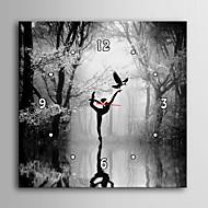 e-home® folk som danser på vannet klokken i canvas 1pcs