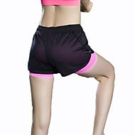 Jóga kalhoty Kraťasy Spodní část oděvu Prodyšné Rychleschnoucí Komprese Pohodlné Spuštený Vysoká pružnost Sportovní oblečení Černá Dámské