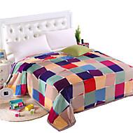 お買い得  ブランケット&毛布-超柔らかい, プリント 縞柄 ポリエステル100% 毛布