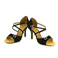 お買い得  靴 プラスサイズ-レディース-ダンスシューズ(ブラック / ブルー / イエロー / ピンク / パープル / レッド / ホワイト) -オーダーメイド可-カスタムヒール-ラテンダンス / サルサ