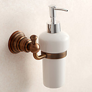 Dispensador de Sabonete Líquido Antigo Aço Inoxidável 6cm 9.5cm Suporte para Sabonete