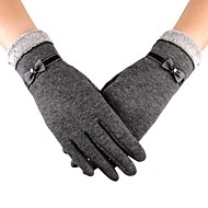 cheap Cycling Gloves-Sports Gloves Touch Gloves Keep Warm Anti-skidding Protective High Elasticity Limits Bacteria Full-finger Gloves Spandex Synthetic