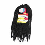 abordables -Pré-boucle Tresses crochet Tresse Natté Tresses au Crochet 45cm Cheveux 100 % Kanekalon Noir Rajouts de Tresses Extensions de cheveux