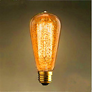 ST64 E27 60w 350-450ML Warm Yellow Retro Retro Bar Decorative Light Bulb