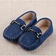 baratos Sapatos de Menino-Para Meninos Sapatos Camurça Conforto Rasos para Preto / Azul
