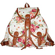 Women Bags All Seasons Canvas Backpack for Casual White Black Pink Light Green