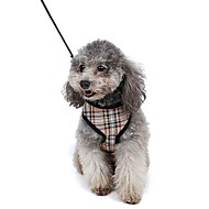 お買い得  犬用カラー/リード/ハーネス-ネコ 犬 ハーネス リード 調整可能 / 引き込み式 高通気性 ソフト 安全用具 ランニング ベスト カジュアルスーツ コスプレ 幾何学的な ファブリック メッシュ イエロー レッド ブルー ピンク
