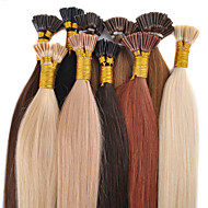 "18""Ash Brown(#8) 100S Stick Tip Human Hair Extensions"